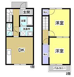 [タウンハウス] 静岡県掛川市上張 の賃貸【/】の間取り