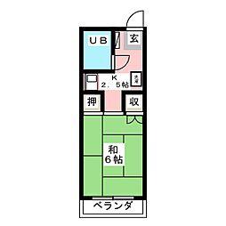 メイゾン東山[2階]の間取り
