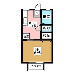 シェトワアパート[2階]の間取り