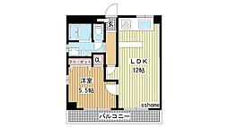 兵庫県神戸市東灘区甲南町2丁目の賃貸マンションの間取り