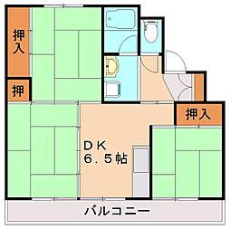 ビレッジハウス伊川1号棟[2階]の間取り