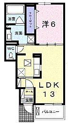香川県丸亀市天満町1丁目の賃貸アパートの間取り