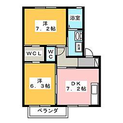 ディアス・K B[2階]の間取り