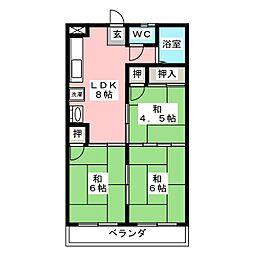菅原コーポ[3階]の間取り