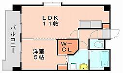 K313フクオカ[4階]の間取り