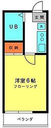 内田アパート[2階]の間取り