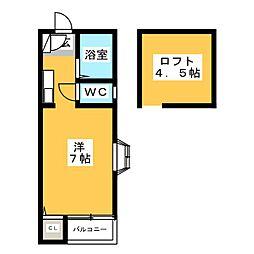 ステラDe宮下[2階]の間取り