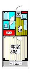 STUDIO UWA[2階]の間取り