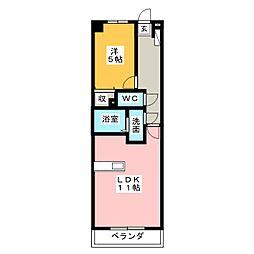 杉村ビル[5階]の間取り