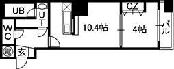 アルファタワー札幌南4条[1408号室]の間取り