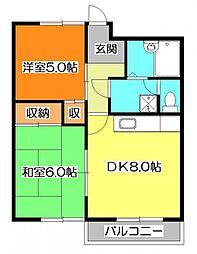清瀬シティハイム[2階]の間取り