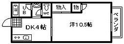 フジ興産第一ビル[205号室]の間取り