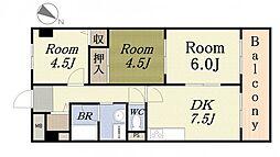 第9柴田ビル[8階]の間取り
