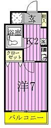 松戸ハイツII[1階]の間取り