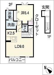 GREEN HILLS SUZUKA[2階]の間取り