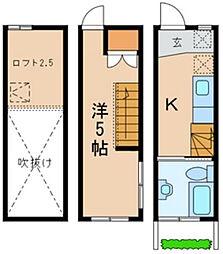 [タウンハウス] 千葉県市川市真間5丁目 の賃貸【/】の間取り