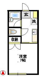 フクシンA棟[2階]の間取り
