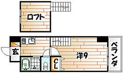 ウインズ浅香II[9階]の間取り