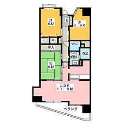グレイス覚王山[6階]の間取り
