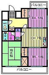 シャトレー南浦和[402号室]の間取り