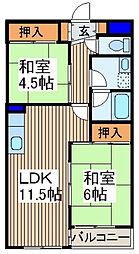 矢口ビル[2階]の間取り