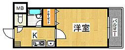 生駒カッレジシティII号棟[3階]の間取り