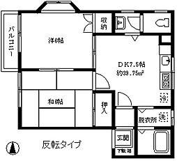 ローライズ駒沢[1階]の間取り