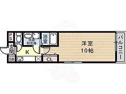 近鉄南大阪線 恵我ノ荘駅 徒歩9分の賃貸アパート 2階1Kの間取り