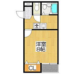 京都アパートメント4[202号室]の間取り