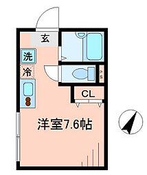 神奈川県横浜市港南区笹下1丁目の賃貸アパートの間取り