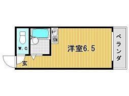兵庫県神戸市灘区中郷町2丁目の賃貸アパートの間取り