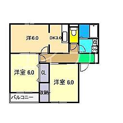 ブラウニー[2階]の間取り