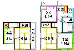 [一戸建] 東京都府中市新町1丁目 の賃貸【/】の間取り