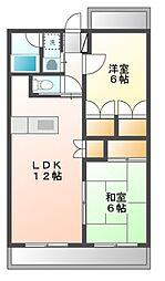 ジラソーレII[3階]の間取り