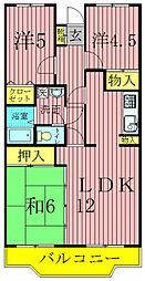 第10パールメゾン蒲田[3階]の間取り