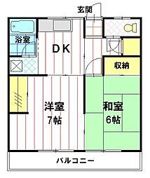 宮前アパート[E号室]の間取り