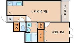 兵庫県神戸市兵庫区御崎本町1丁目の賃貸マンションの間取り