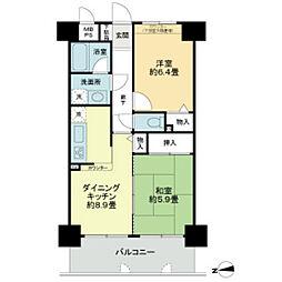 ライオンズマンション岡山南[11階]の間取り