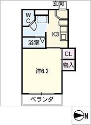 グリーンハイツ浅野II[1階]の間取り
