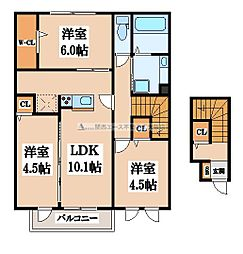 メゾンド・和[2階]の間取り