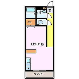 SHALOM SQUARE[2階]の間取り