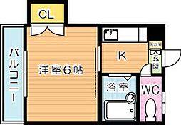 シャトレ力丸[2階]の間取り