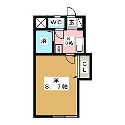 コーポ麿[1階]の間取り