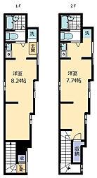 アート三河島[2階号室]の間取り