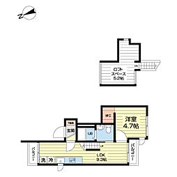 JR山手線 目白駅 徒歩5分の賃貸アパート 2階1LDKの間取り