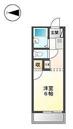 レジデンスシ−ザ−[2階]の間取り