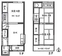 [一戸建] 東京都大田区大森西3丁目 の賃貸【/】の間取り