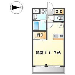 伊予鉄道市駅線 南町駅 徒歩3分の賃貸マンション 1階ワンルームの間取り