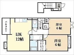 ジェントルハウス[2階]の間取り