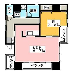 エクシブ常盤[6階]の間取り